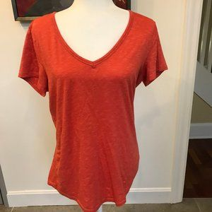 Toad & Co Orange Long T Shirt Size Large